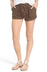 Women's Jolt Textured Cotton Drawstring Shorts Olive