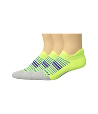 Feetures Elite Light Cushion No Show Tab 3 Pair Pack Sunrise Reflector No Show Socks Shoes Yellow