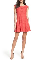 Bb Dakota Women's Lace Fit And Flare Dress