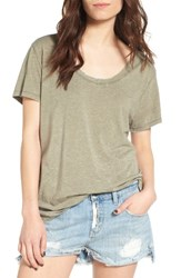 Treasure And Bond Women's Burnout Boyfriend Tee Olive Sarma