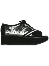 Nicholas Kirkwood 50Mm 'Phoenix' Lace Up Flatform Sandals Black