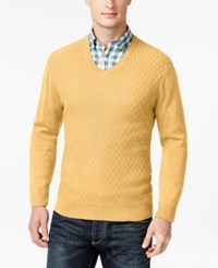 Club Room Big And Tall Diamond Knit Pattern V Neck Sweater Only At Macy's Magnolia