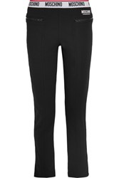 Moschino Cotton Blend And Fleece Track Pants Black