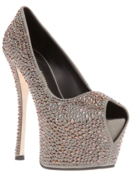 Giuseppe Zanotti Design Embellished Platform Pumps Green