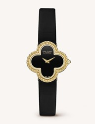 Van Cleef And Arpels Vintage Alhambra Gold Onyx Watch Yellow Gold