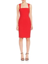 Likely Perry Bell Sleeve Shift Dress Scarlet
