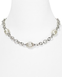 Majorica 14 16Mm Simulated Pearl Silver Chain Necklace 17 Multi