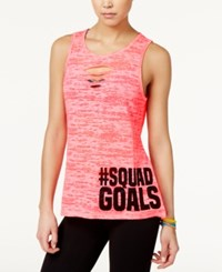 Material Girl Active Juniors' Cutout Graphic Tank Top Only At Macy's Flashmode