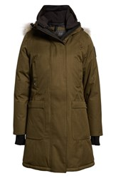 Nobis Meredith Hooded Down Parka With Genuine Coyote Fur Trim Fatigue