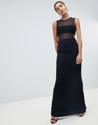 Missguided Bandage Keyhole Maxi Dress Black