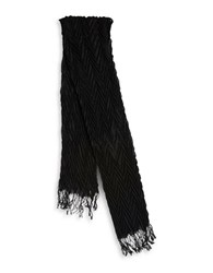 Collection 18 Pleated Scarf Black