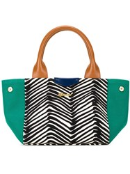 Muveil Mini Chevron Print Tote Multicolour