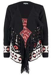 Twintip Cardigan Black White Neon Orange