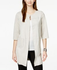 Alfani Prima Faux Suede Car Coat Only At Macy's French Stone