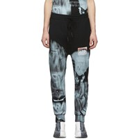 11 By Boris Bidjan Saberi Black Mirage Lounge Pants