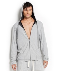 2Xist 2 X Ist Men's Loungewear Two Tone Full Zip Hoodie Light Grey Heather