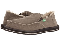 Sanuk Vagabond Chill Washed Brown Slip On Shoes