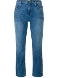 Current Elliott Cropped Bootcut Jeans Blue
