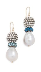 Trademark Cici Freshwater Cultured Pearl Earrings Blue