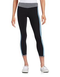 Kensie Colorblocked Athletic Pants Black