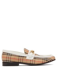 Burberry Moorley Checked Loafers White Multi