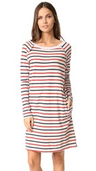 Stateside Long Sleeve Stripe Dress Natural