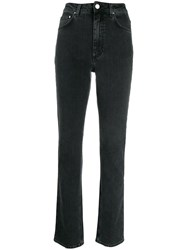 Toteme High Waisted Slim Fit Jeans Grey