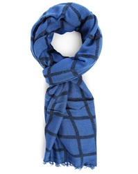 Ikks Blue Checked Scarf