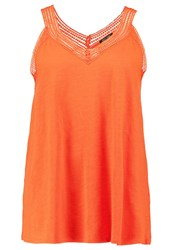 New Look Curves Top Burnt Orange