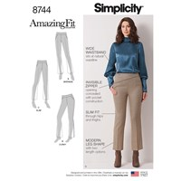 Simplicity Amazing Fit Pants Sewing Pattern 8744