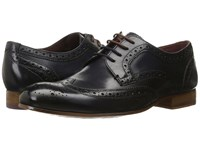 Ted Baker Gryene Dark Blue Leather Men's Lace Up Wing Tip Shoes Navy