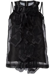 Sacai 'Love Will Save The Day' Vest Top Black