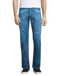 Prps Barracuda Bleach Splatter Denim Jeans Dark Blue