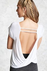 Forever 21 Low Back Surplice Sport Tee