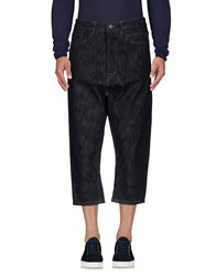Rick Owens Drkshdw By Denim Capris Blue