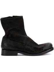 Isaac Sellam Experience Boots Buffalo Leather Calf Leather Horse Leather Black
