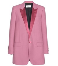 Saint Laurent Wool And Mohair Jacket Pink