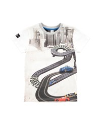 Molo Cotton Racetrack Jersey Tee Cream