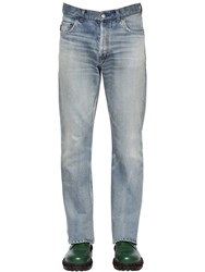 Balenciaga 20Cm Bootcut Cotton Denim Jeans Blue