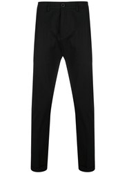 Department 5 Cropped Slim Fit Trousers Black