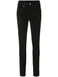 Paul Smith Ps By Mid Rise Skinny Jeans Cotton Spandex Elastane Black