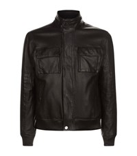 Michael Kors Perforated Leather Jacket Male Black