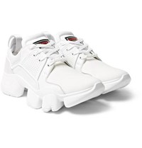 Givenchy Jaw Neoprene Suede Leather And Mesh Sneakers White