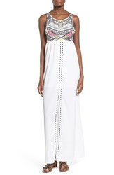 Women's Rip Curl 'Tribal Myth' Print Maxi Dress White