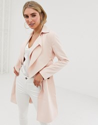 Lipsy Soft Duster Coat In Pink Pink