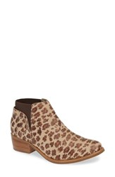 Matisse Ready Or Not Bootie Leopard Suede