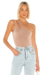 Lovers Friends Baro Bodysuit In Taupe.