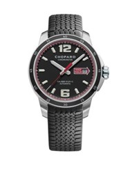 Chopard Mille Miglia Gts Power Control Automatic Stainless Steel And Rubber Strap Watch Grey