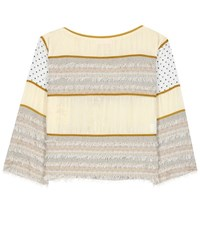 See By Chloe Cotton Blend Top Neutrals