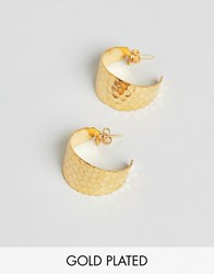 Gogo Philip Hammered Hoop Earrings Gold